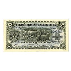 Republica Colombia. 1904. Issued Note.