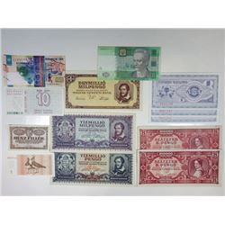 Assorted Eastern European & Ex-USSR Issuers. 1945-2006. Group of 12 Issued Notes.
