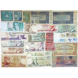 Assorted European Issuers. 1912-1993. Group of 33 Issued Notes.