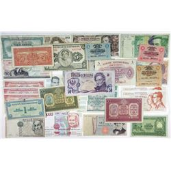 Assorted European Issuers. 1916-1997. Group of 66 Issued Notes.