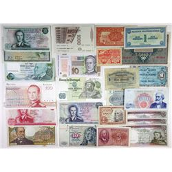 Assorted European Issuers. 1918-1980. Group of 40 Issued Notes.