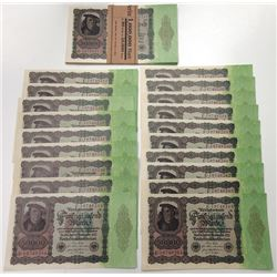 Weimar Republic. 1922. Group of 39 Issued Treasury Notes.