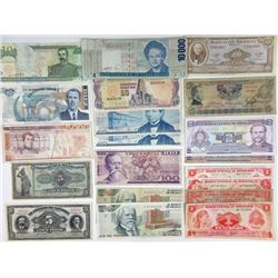 Assorted Latin American Issuers. 1910s-2000s. Group of 70+ Issued Notes.