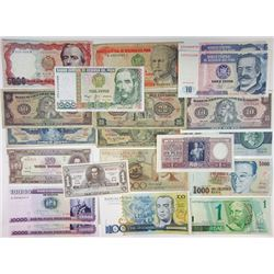 Assorted Latin American Issuers. 1910s-2010s. Group of 48 Issued Notes.