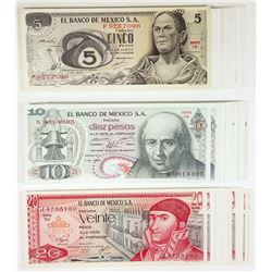 Banco de Mexico. 1981-1982. Group of 90+ Issued Notes.