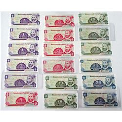 Banco Central & Banco Nacional. 1960-2000s. Group of 45+ Issued Notes.
