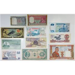 Asian Banknote Assortment, ca.1940-60's.