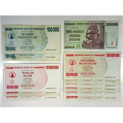 Reserve Bank of Zimbabwe. 2000s. Dozen of Issued Notes.