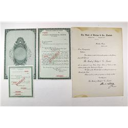 Bank of Bishop & Co., Ltd. Honolulu, 1925 Specimen Letter of Credit.