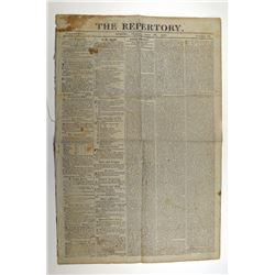 Boston, Massachusetts, Historic Newspaper, The Repertory, June 28, 1811 , War of 1812 Related Conten