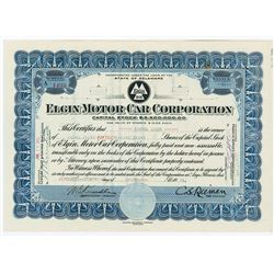 Elgin Motor Car Corp., 1921 Stock Certificate.