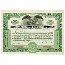 Federal Motor Truck Co., ca.1910-1930 Specimen Stock Certificate
