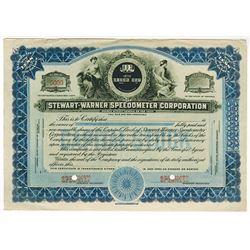 Stewart-Warner Speedometer Corp., ca.1920-1930 Specimen Stock Certificate