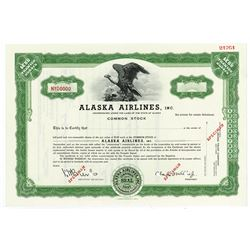 Alaska Airlines, Inc., 1937 Specimen Stock Certificate
