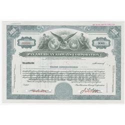 Pan American Airways Corp., ca.1950s Specimen Stock Certificate