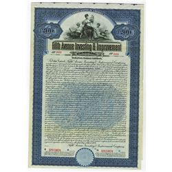 Fifth Avenue Investing & Improvement Co., Specimen Bond.
