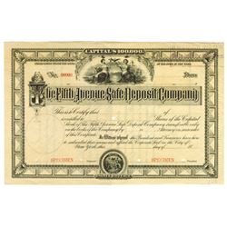 Fifth Avenue Safe Deposit Co., ca.1880-1900 Specimen Stock Certificate