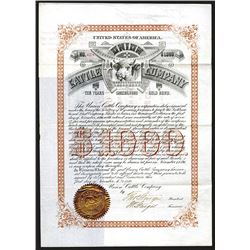 Union Cattle Co., 1886 Bond.