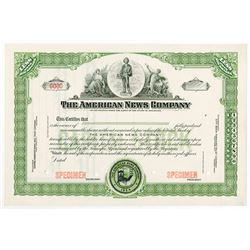 American News Co., 1934 Specimen Stock Certificate