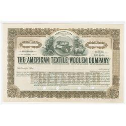 American Textile Woolen Co. ca1910-20 Specimen Stock Certificate