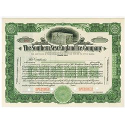 Southern New England Ice Co., ca.1927 Specimen Stock Certificate