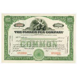 Parker Pen Co., ca.1900-1920 Specimen Stock Certificate