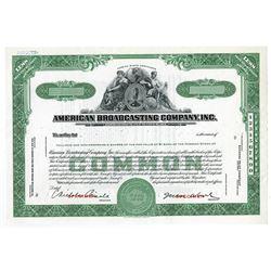 American Broadcasting Co., 1943 Specimen Stock Certificate.