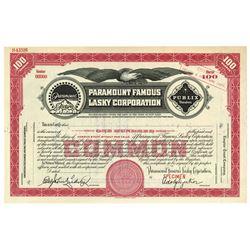 Paramount Famous Lasky Corp., ca.1910-1920 Specimen Stock Certificate