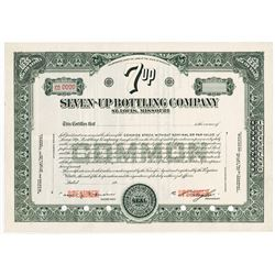 Seven-Up Bottling Co.,1939 Specimen Stock Certificate.