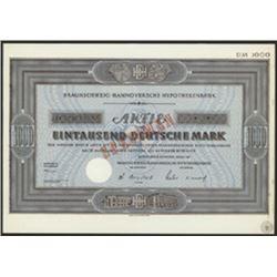 Braunschweig-Hannoversche Hypothekenbank Specimen Bond.