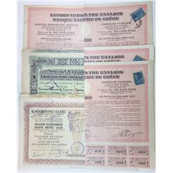 Various Industrial Issuers. 1912-1928. Group of 11 Issued Bonds.