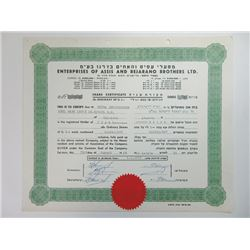 Enterprises of Assis & Bejarano Brother Ltd., 1969 Issued Stock Certificate