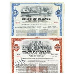 State of Israel Pair of Cancelled Bonds 1967-1974