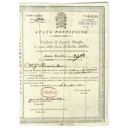 Stato Pontificio, 1830 Issued Bond.