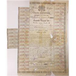 (Stato & Governo Pontificio) $100 Gold Bond 1866