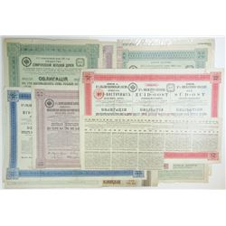 Imperial Russian Government, 1889-1914, Octet of Railroad Bonds.