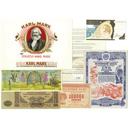 Various Issuers. 1910s-2000s. Notes & Paperwork.