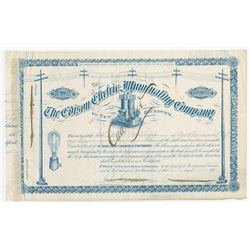 Edison Electric Illuminating Co., 1885 Issued Stock Certificate.
