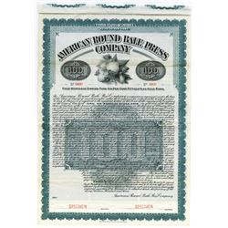 American Round Bale Press Co., 1907 Specimen Bond