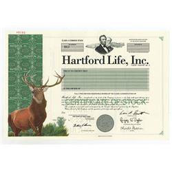 Hartford Life, Inc., 1997 Specimen Stock Certificate
