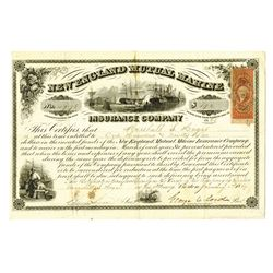 New England Mutual Marine Insurance Co. Certificate of Profits.