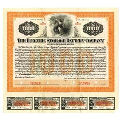 Electric Storage Battery Co., 1917 Specimen Bond