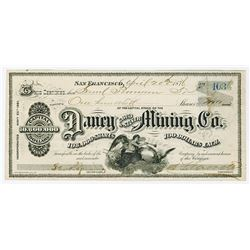 Daney Gold & Silver Mining Co., 1876 Issued Stock Certificate