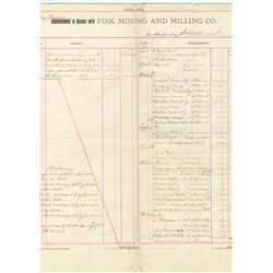 Aspen, CO. 1893-94 Assay Reports from Taylor & Brunton Sampling Assay and Fisk Mining and Milling Co