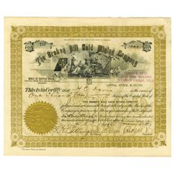 Broken Hill Gold Mining CO., 1897 Issued Stock Certificate - Cripple Creek Mine.