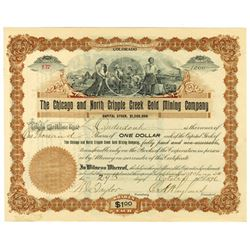 Chicago and North Cripple Creek Gold Mining Co., 1896 Issued Stock Certificate