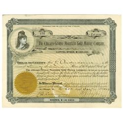 Chicago-Grouse Gold Mining Co., 1897 Stock Certificate