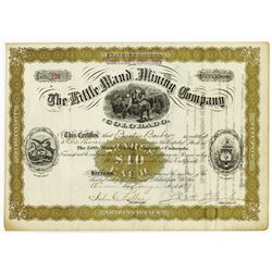 Little Maud Mining Co. of Colorado, 1883 Issued Stock Certificate