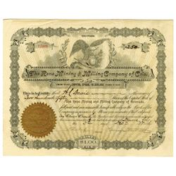 Reno Mining and Milling Co. of Colorado, 1896 Issued Stock Certificate