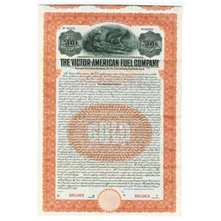 Victor-American Fuel Co. 1910 Specimen bond.